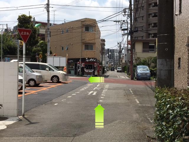 駐車場への行き方1